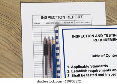 Inspection requirement concept- many uses in the oil and gas industry.
