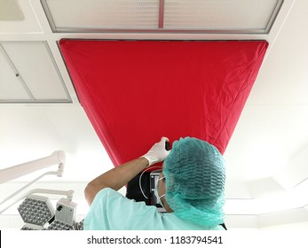 Inspection testing and certification Air velocity, airflow volume and room air change rate - Cleanroom Testing & Certification.