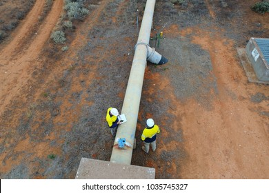 Inspection of Water Pipeline in outback South Australia