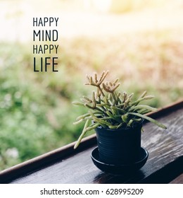 Inspiration motivation quote about happy life