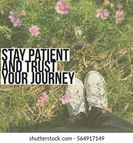 Inspiration motivation quote about journey