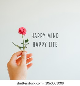 Inspiration motivation quote about life, happy