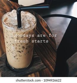 Inspiration motivation quote about Monday