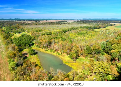 Inspiration Point provides a magnificent view of the Shawnee National Forest in southern Illinois