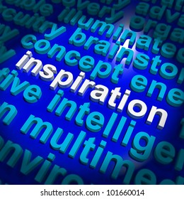 Inspiration Word Showing Positive Thinking Or Encouragement