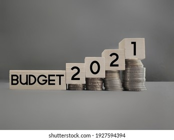 Inspirational and conceptual - budget 2021 text with vintage background. Stock photo. - Shutterstock ID 1927594394