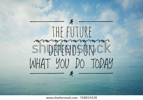 inspirational motivating quotes on nature background stock photo