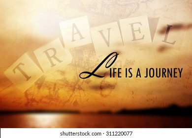 Inspirational Motivational Life Quote on  Blur Background Design.