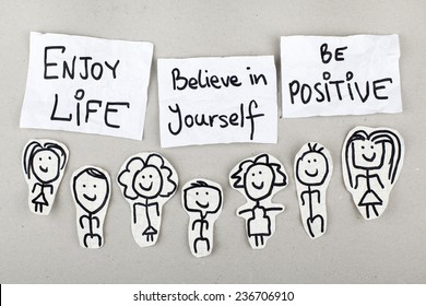 Inspirational Motivational Life Quote Phrase Design / Enjoy Life, Believe in Yourself, Be Positive
