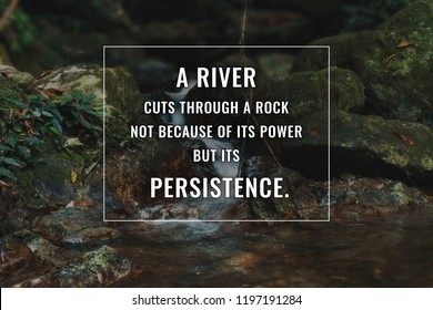 Inspirational and motivational quote. Success and persistence.