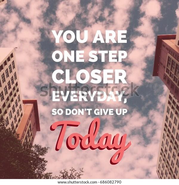 Foto De Stock Sobre Una Frase Motivacional Que Inspira