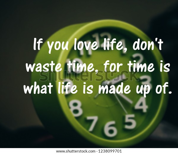 foto de stock sobre inspirational motivational quotes about time
