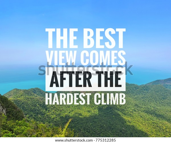 inspirational motivational quotes on blue sky stock photo edit