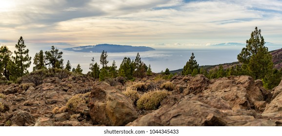 Inspirational Mountains Landscape on Tenerife, Canary Islands, La Gomera Island