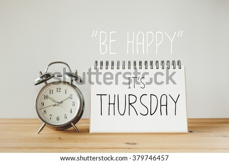 Inspirational Quote Be Happy Thursday Stock Photo Edit Now