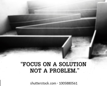 Inspirational quote on blurred background.business concept.