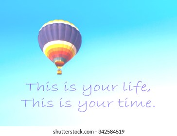 Hot Air Balloon Quote Stock Photos Images Photography Shutterstock
