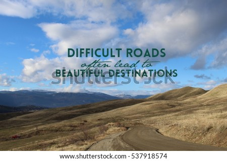 inspirational quote on scenic mountain landscape stock photo edit