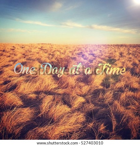 Inspirational Quote One Day Time Bright Stock Photo Edit Now