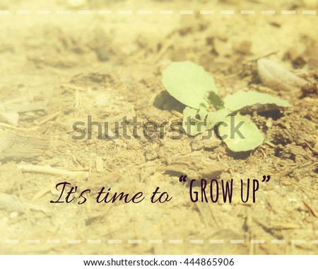Inspirational Quote Time Grow Quote On Stock Photo Edit Now