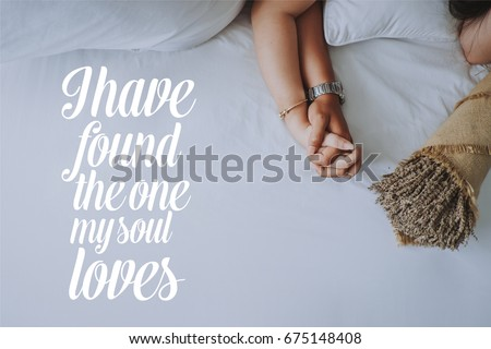 Inspirational Quotes About Love Hand Hand Stock Photo Edit Now