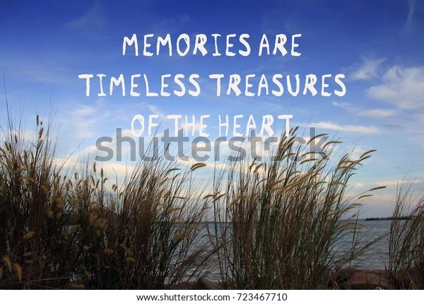 foto de stock sobre inspirational quotes memories timeless