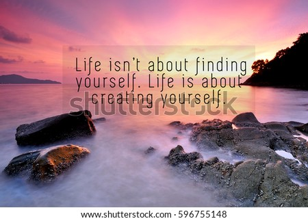 Inspirational Quotes Phrase Life Isnt About Stock Photo Edit Now