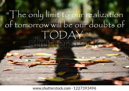 Inspirational Quotes The Only Limit Our Stock Photo Edit Now