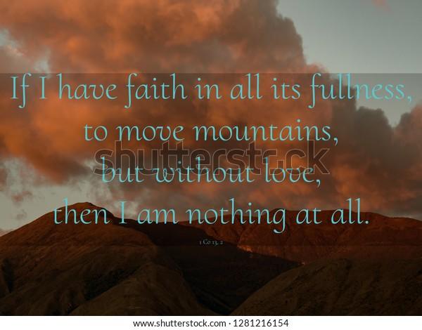 Inspirational Quotes Verses Bible Over Beautiful Stock Photo ...