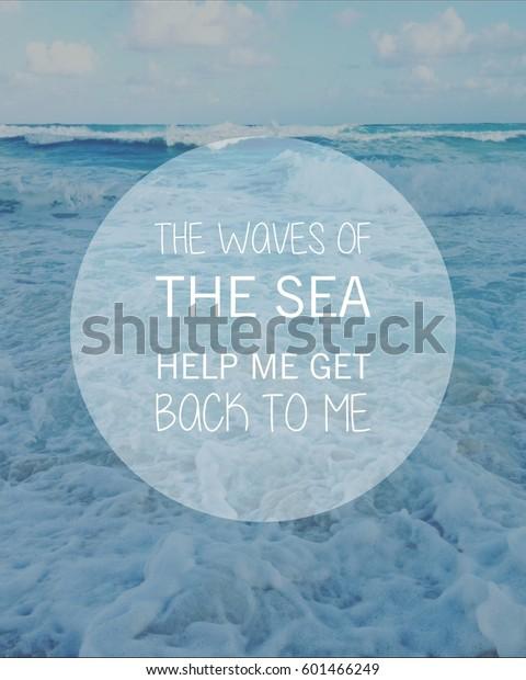 foto de stock sobre inspirational typographic quote on ocean waves