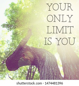 Inspirational Typographic Quote - Your only limit is you