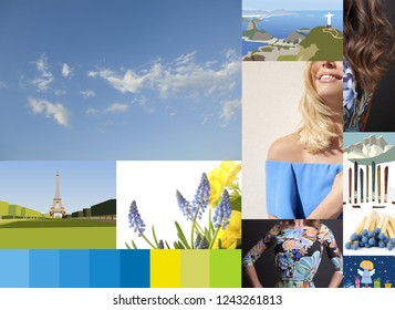 inspirations on blue colors and holidays