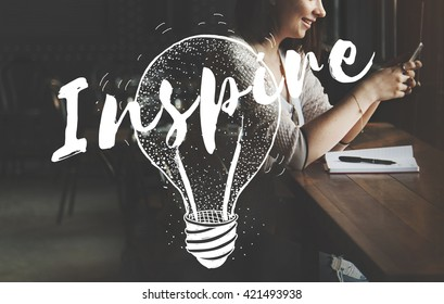 Inspire Inspiration Motivation Creative Creativity Concept