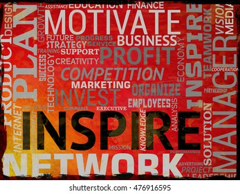 Inspire Words Indicating Inspiration Action And Motivate