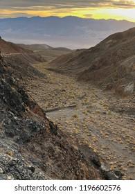 Inspiring landscape, Death Valley National Park, California, USA. Sunset