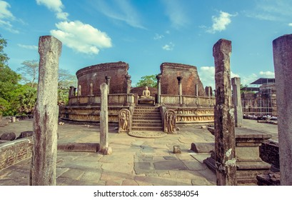 Instagram Effect Of Polonnaruwa  Ancient Vatadage That Is An Ancient Structure Built For Hold The Tooth Relic Of The Buddha . Polonnaruwa Is The second most ancient of Sri Lankas kingdoms