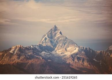instagram filter Himalaya mountains.