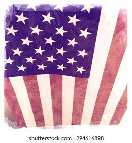 Instagram filtered image of American Flag for 4th of july, veterans day, labor day, memorial day