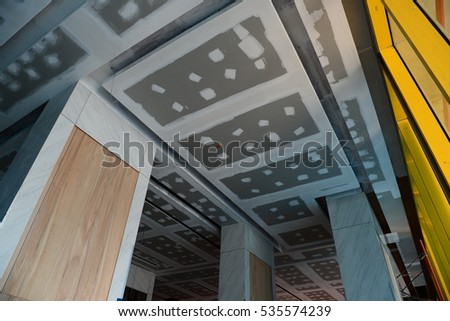 Install Ceiling Tiles Gypsum Board Condominium Stock Photo Edit Now