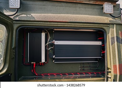 installation of the amplifier and speaker system in the car