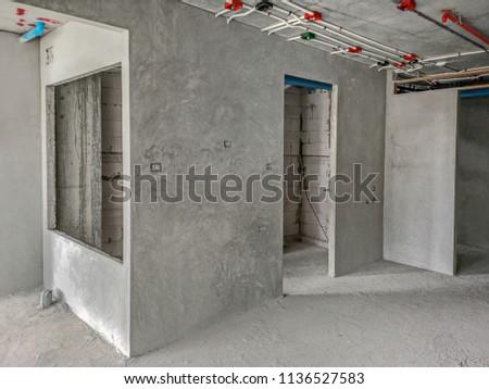 Superb Installation Electrical Wiring On Wall Work Stock Photo Edit Now Wiring Digital Resources Bemuashebarightsorg