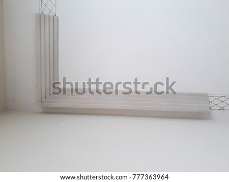 Installation Mouldings On Ceiling Refurbished Room Stock