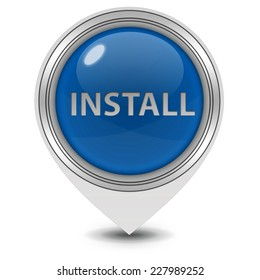 Installation pointer icon on white background