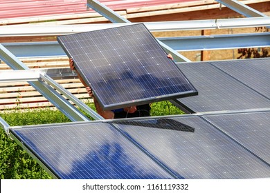 Installation of semitransparent solar modules
