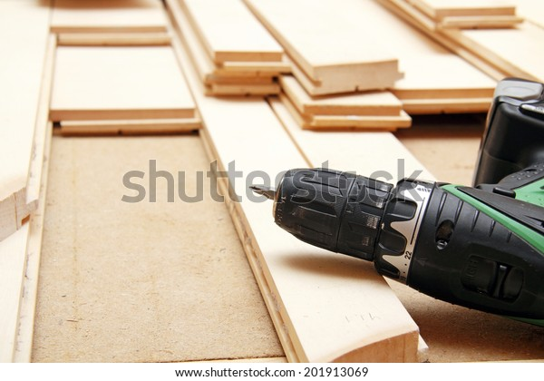 Installing hardwood floor and tools
