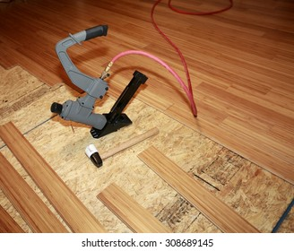 Installing hard-wood flooring