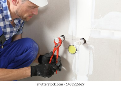 Installling of a water connection in new building