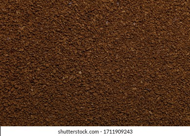 instant coffee powder isolated on white background and texture