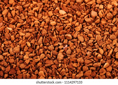 instant coffee texture, coffe granola background