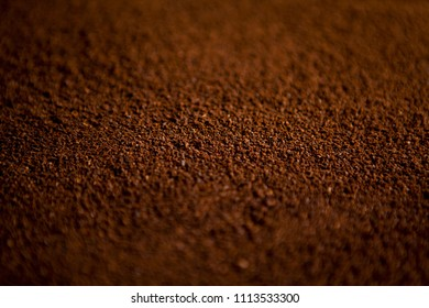 Instant coffee as a texture. Top view